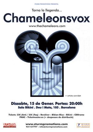 Cartel Chameleons Vox Barcelona